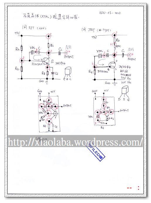 Xtal FET Oscillator homebrew