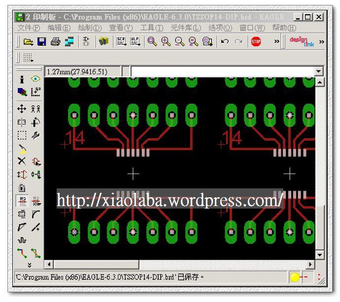 TSSOP14-DIP, EagleCAD PCB file in the zip jpg