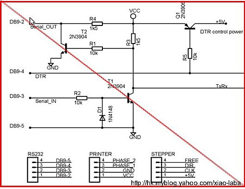 xiaolaba simple RS232 circuit