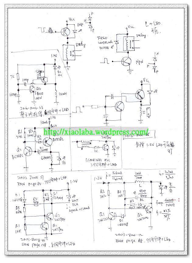 1.2V LED flasher design note2