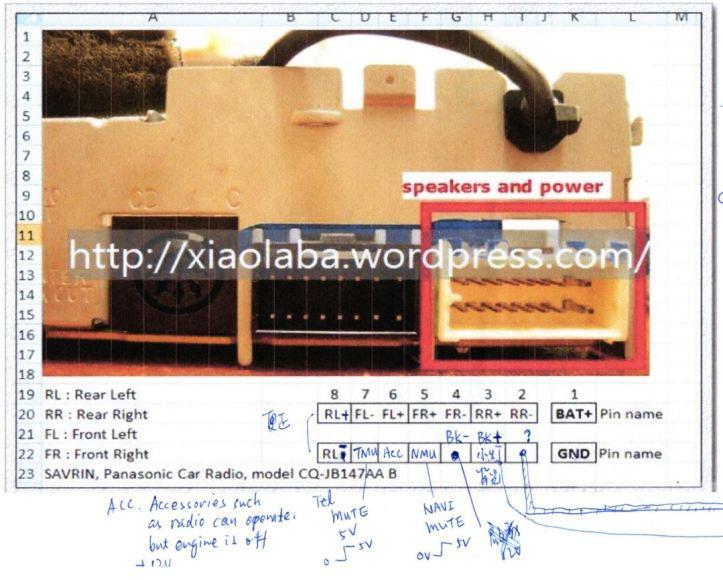 Panasonic_Car audio_CQ-JB147AA_B pinout_2